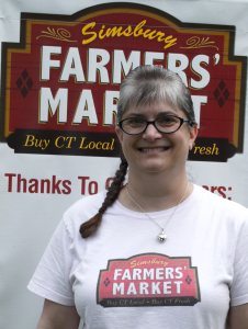 Anne Marie is the Market Master for the Simsbury Farmers Market that takes place every Thursday 3-6pm through September 10th. Visit them at